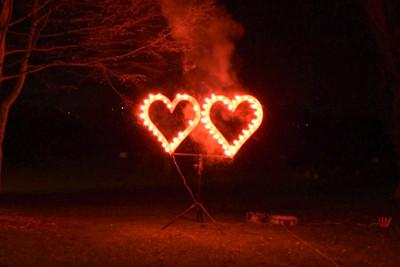 Lichterbild '2 Herzen'